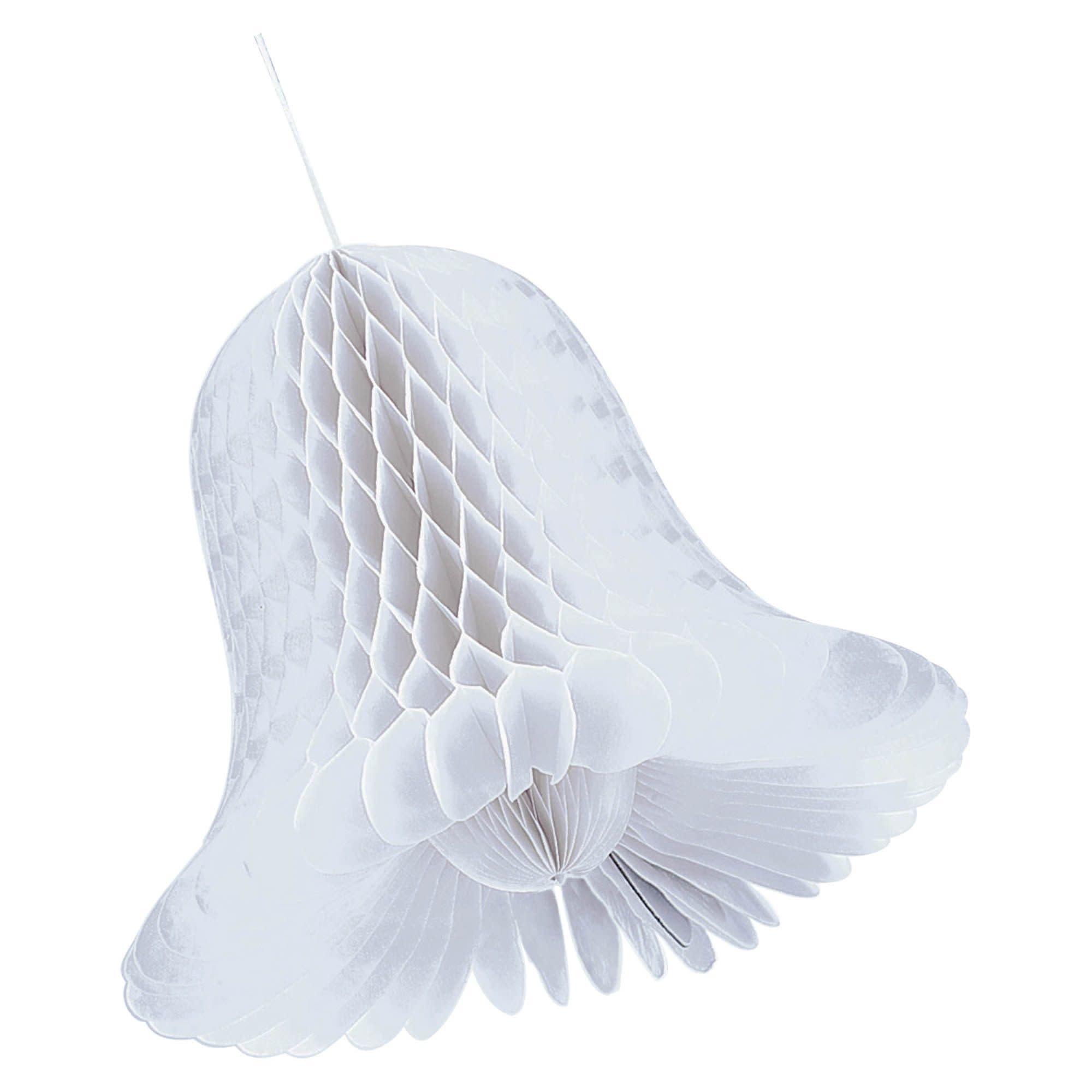 "5"" White Bridal Honeycomb Bells"
