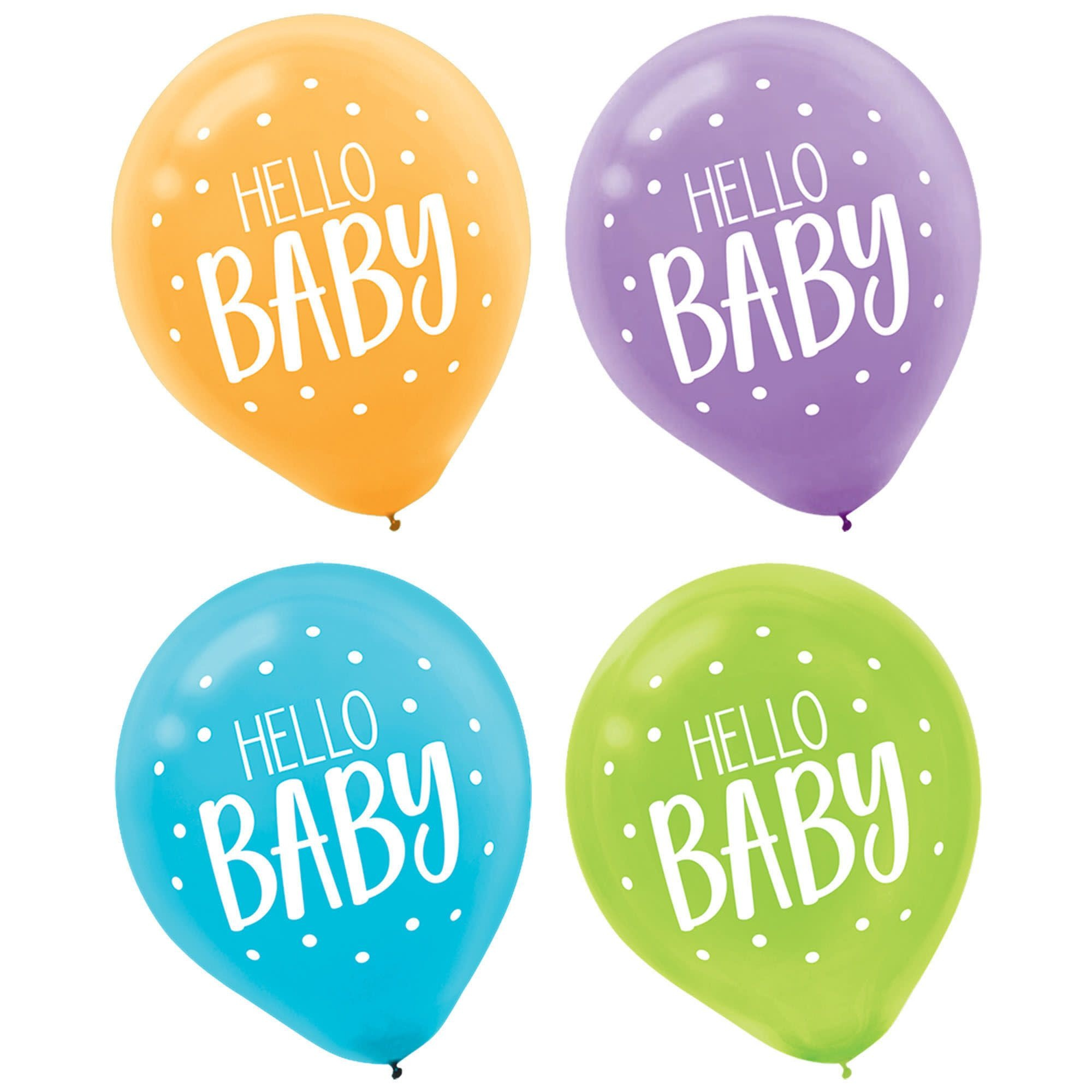 Fisher Price™ Hello Baby Printed Latex Balloon- 15 Count (Latex Only)