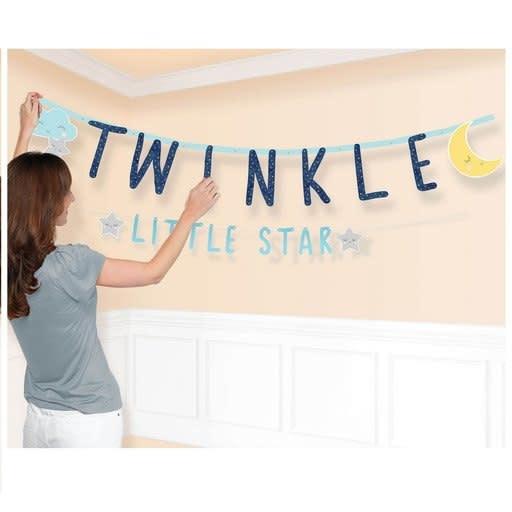 Twinkle Little Star Jumbo Letter Banner