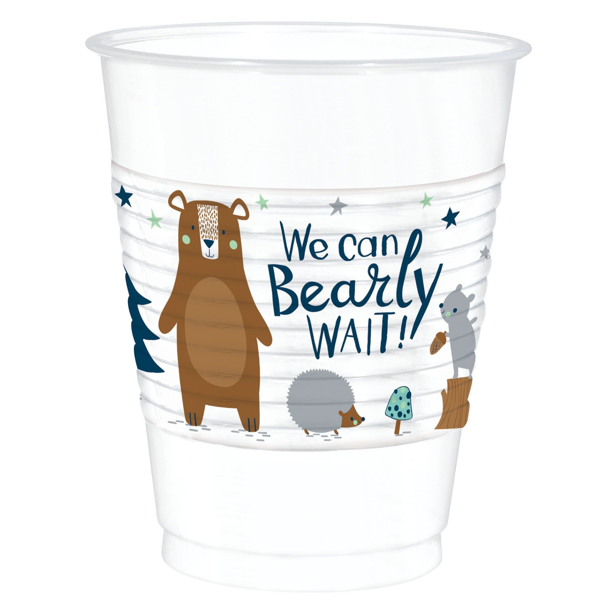 Bear-Ly Wait Plastic Cups- 25 Count