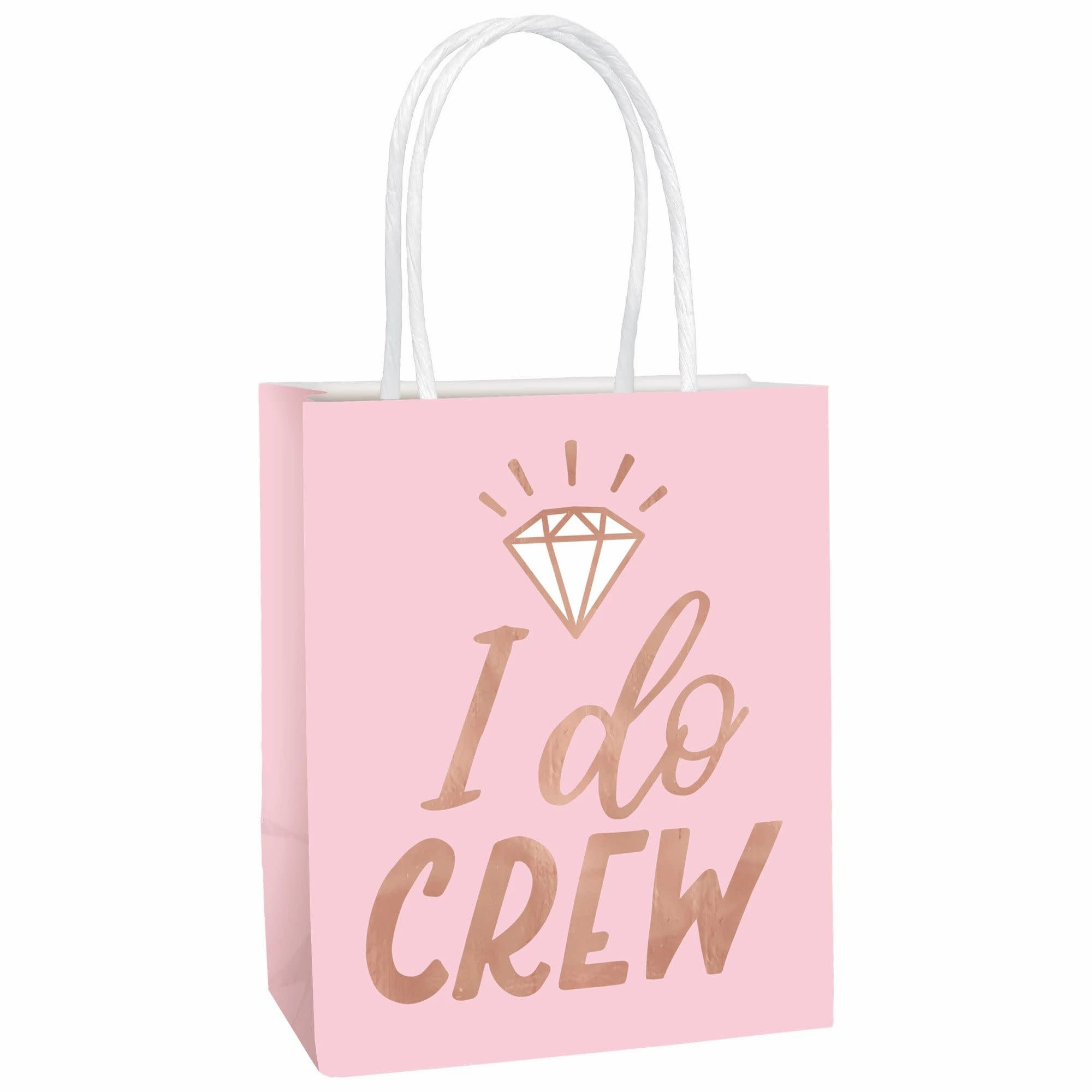 Blush Wedding Small Gift Bags- 6 Count