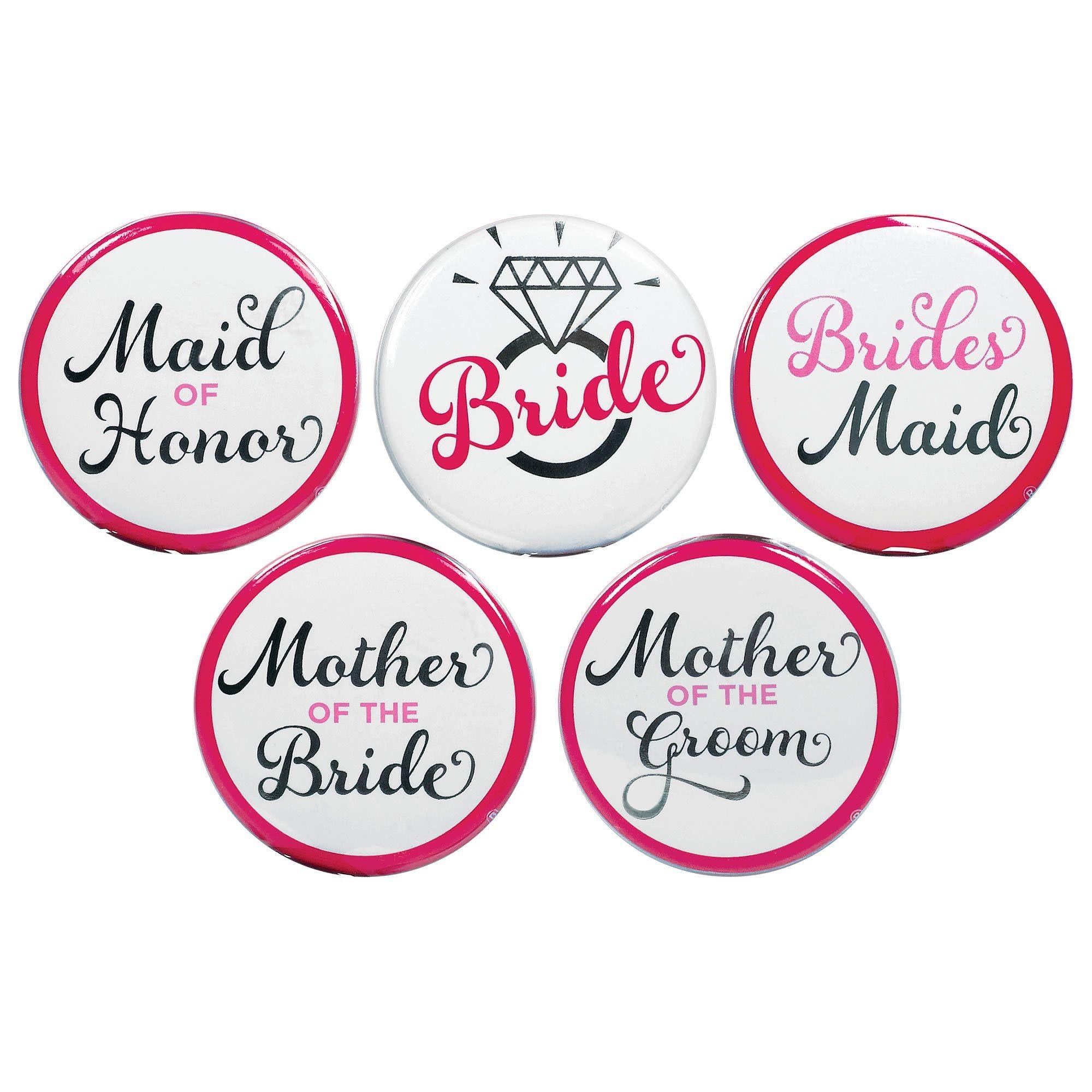 Elegant Bride Buttons- 8 Count
