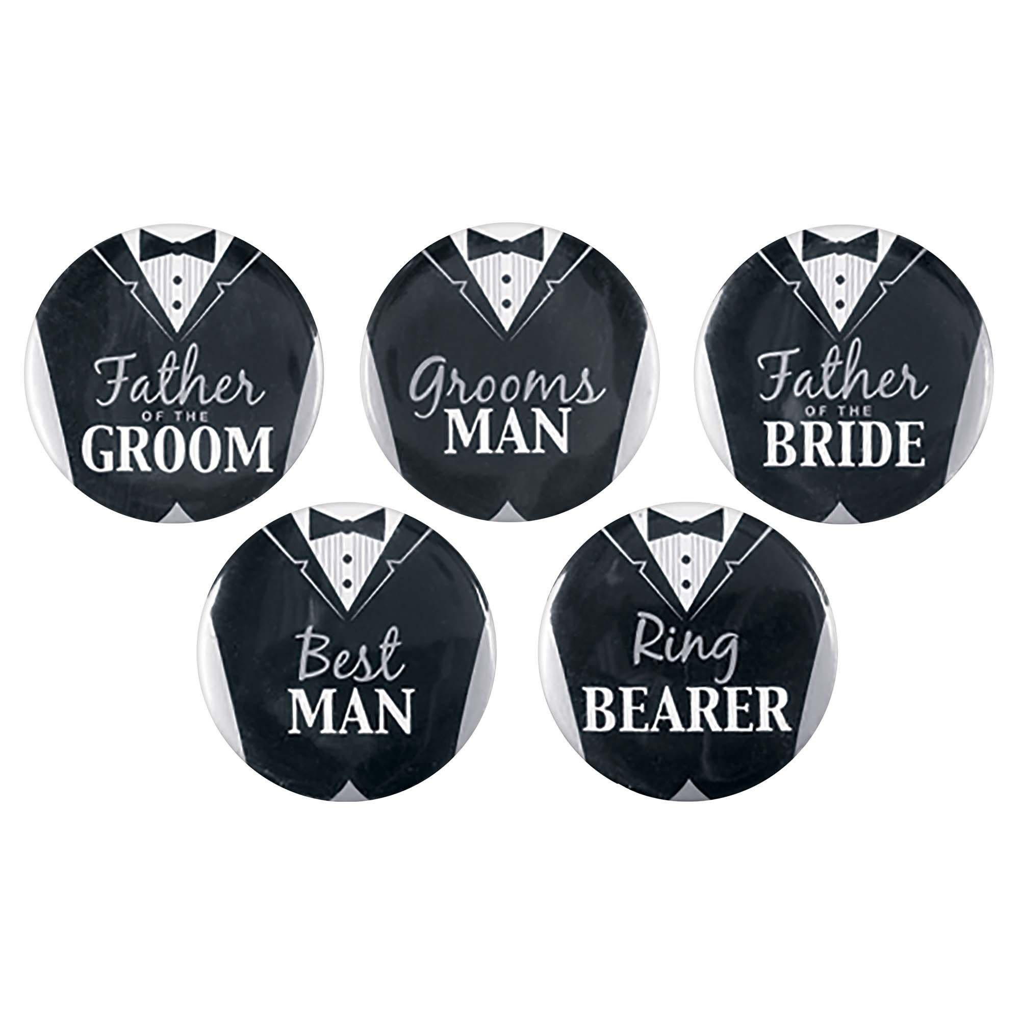 Groom Buttons - 8 Count