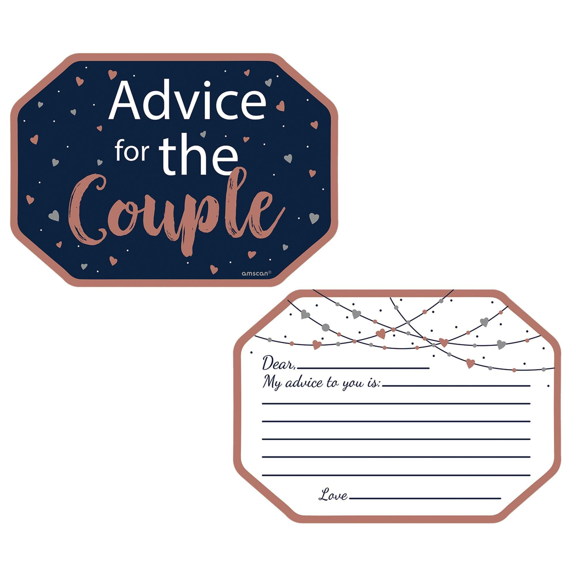 Navy Bride Advice Cards- 24 Count