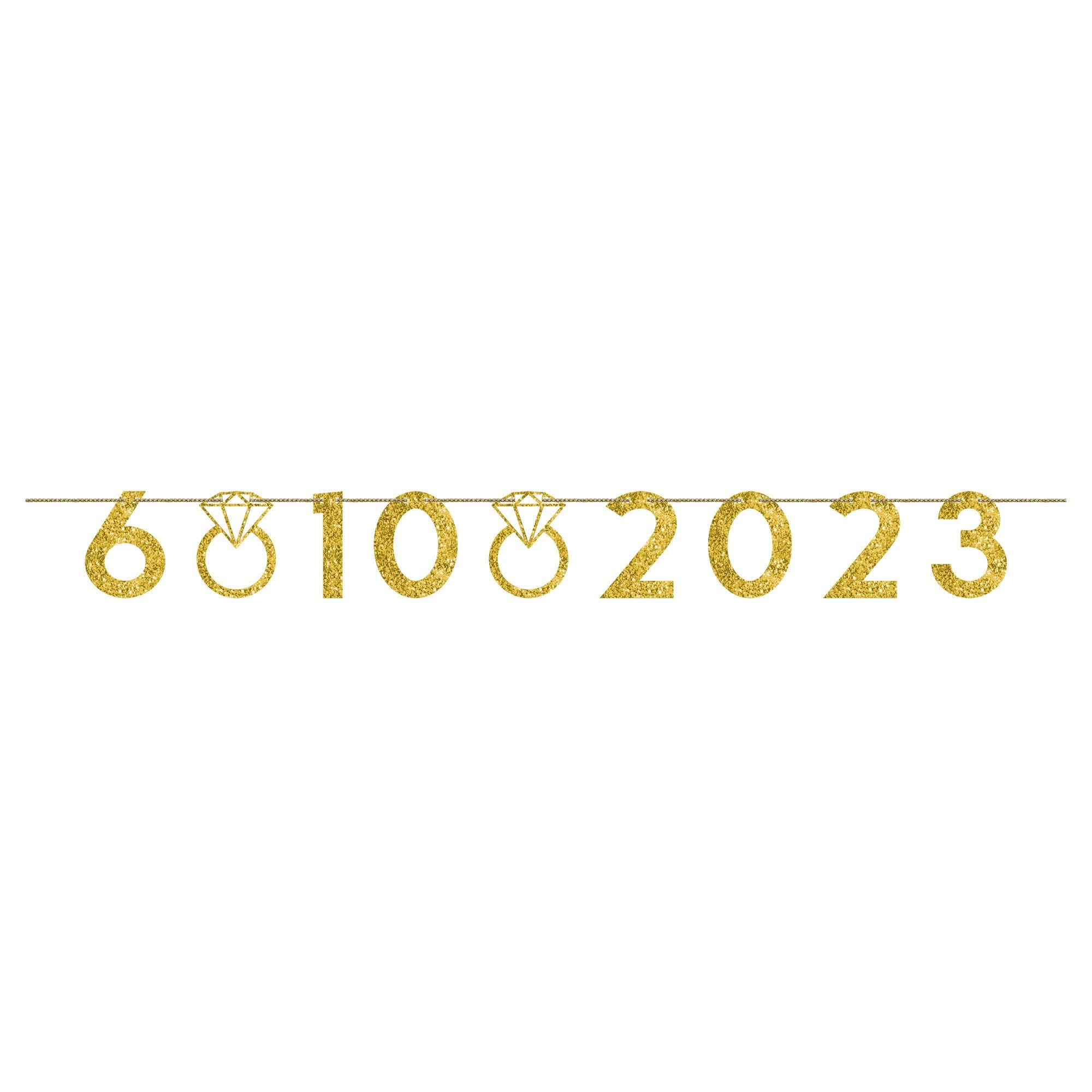 Customizable Wedding Banner- Gold
