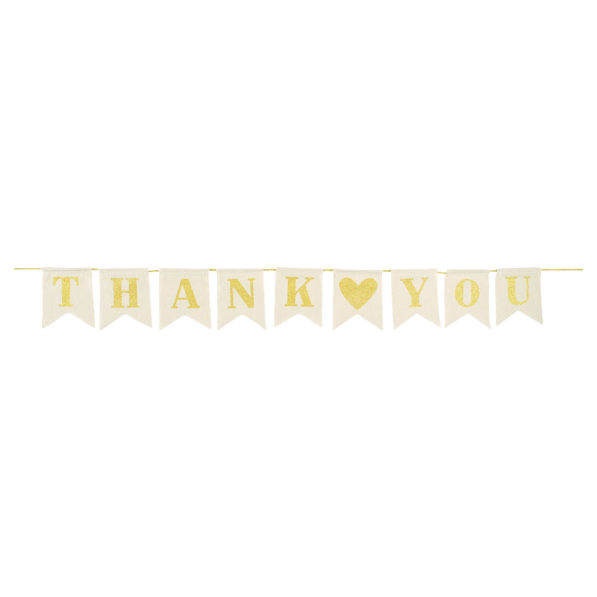 Thank You Canvas Pennant Banner