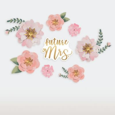 Future Mrs. Floral Cutouts- 8 Count