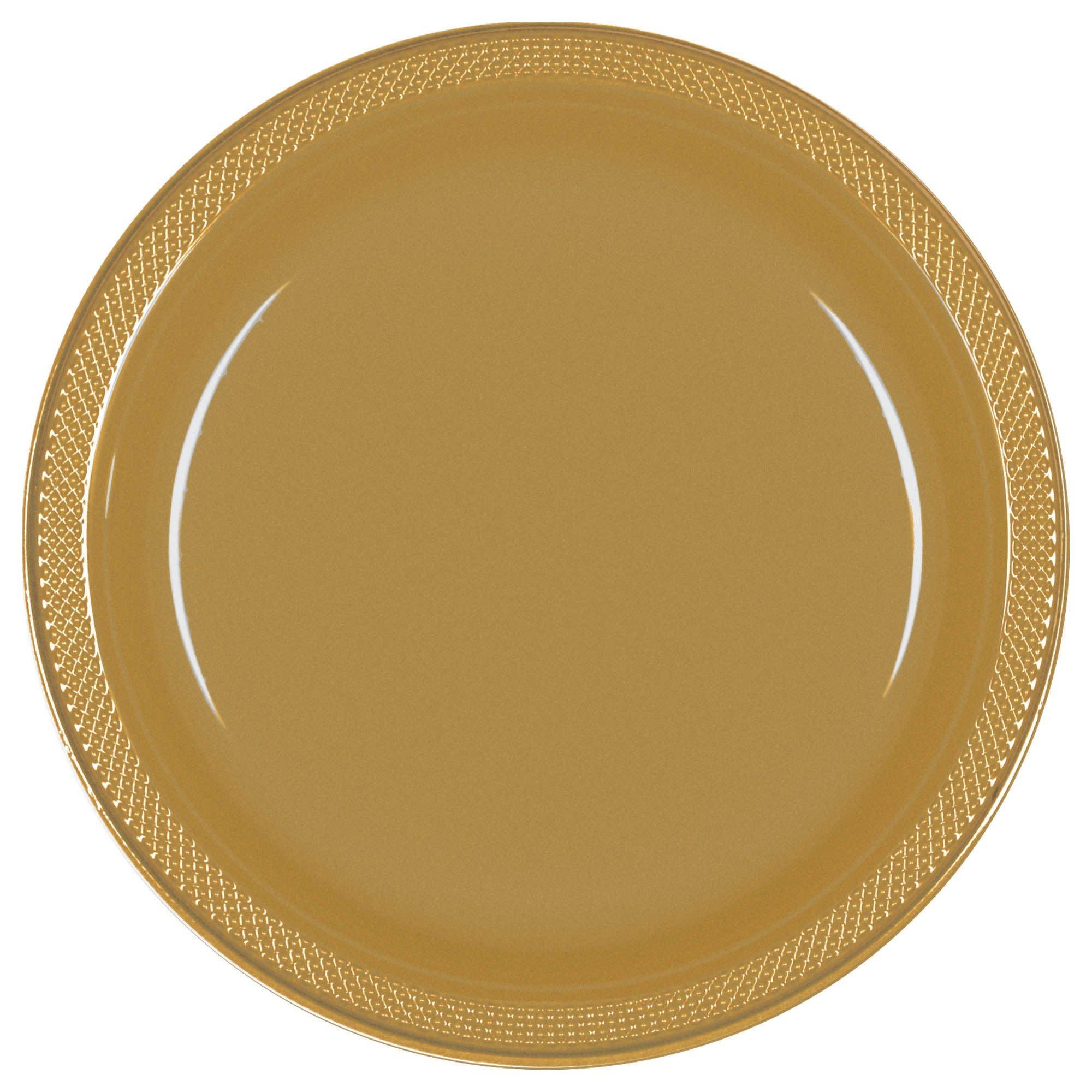 """Gold Sparkle Plastic Plates, 10 1/4"""""""