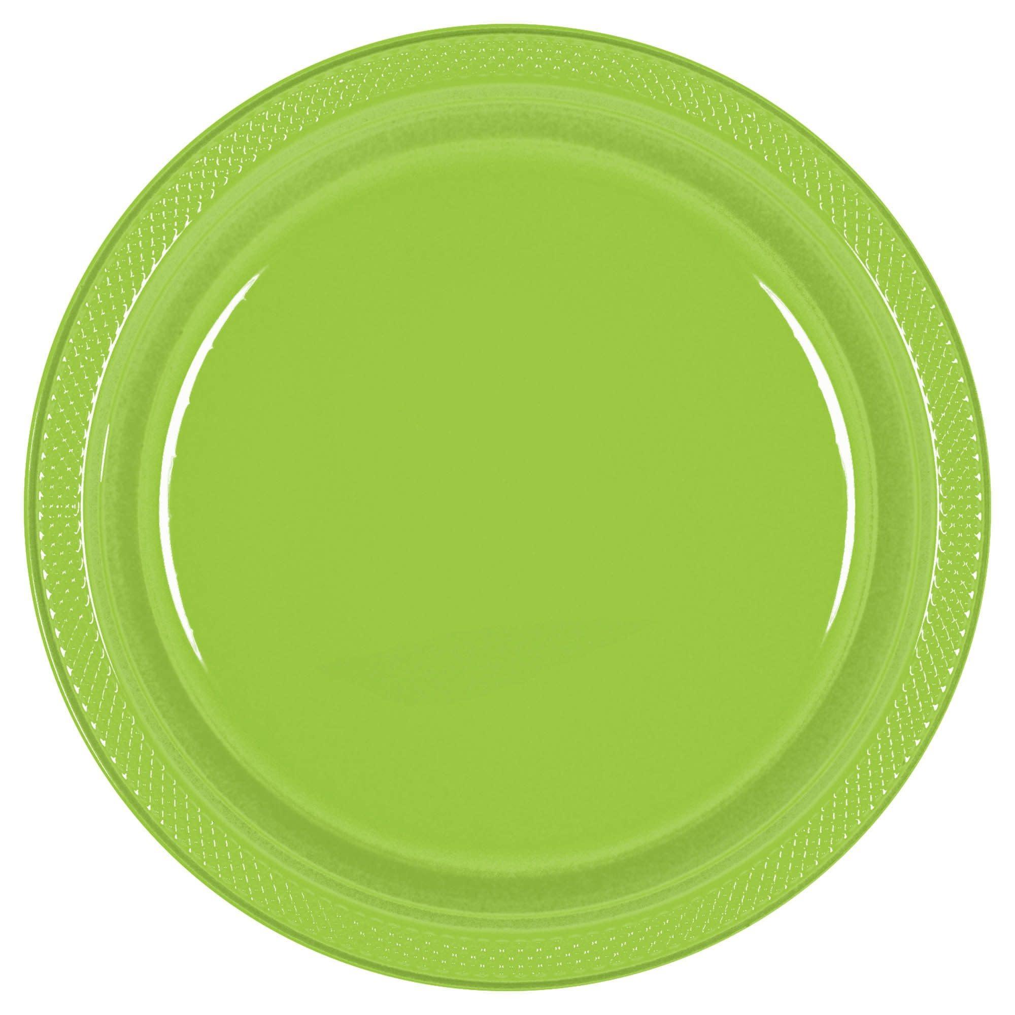 """Kiwi Plastic Plates, 10 1/4"""""""