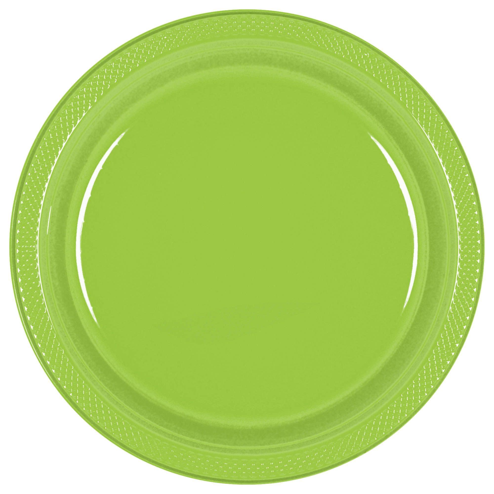 """Kiwi Plastic Plates, 7"""""""