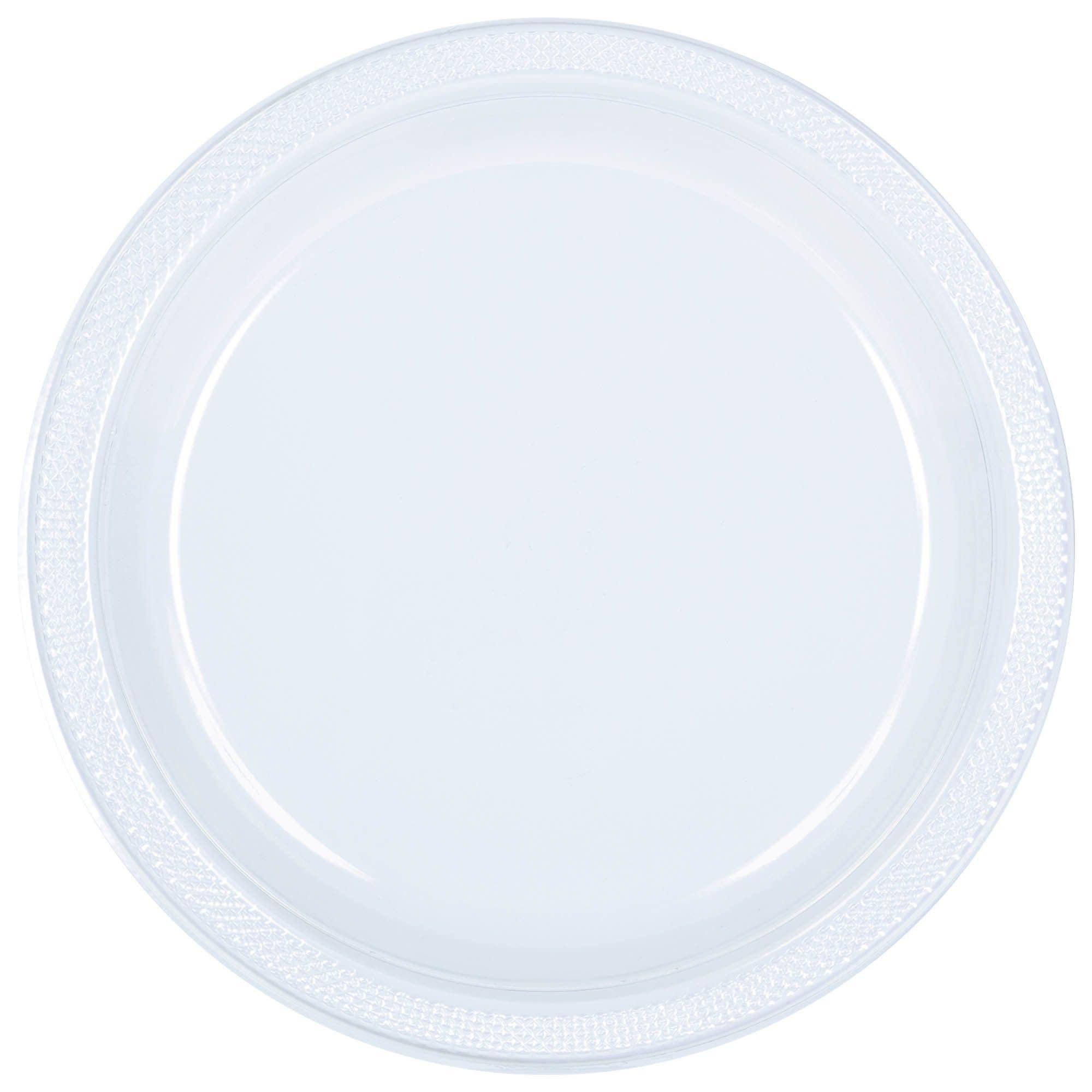"""Clear Plastic Plates, 7"""""""