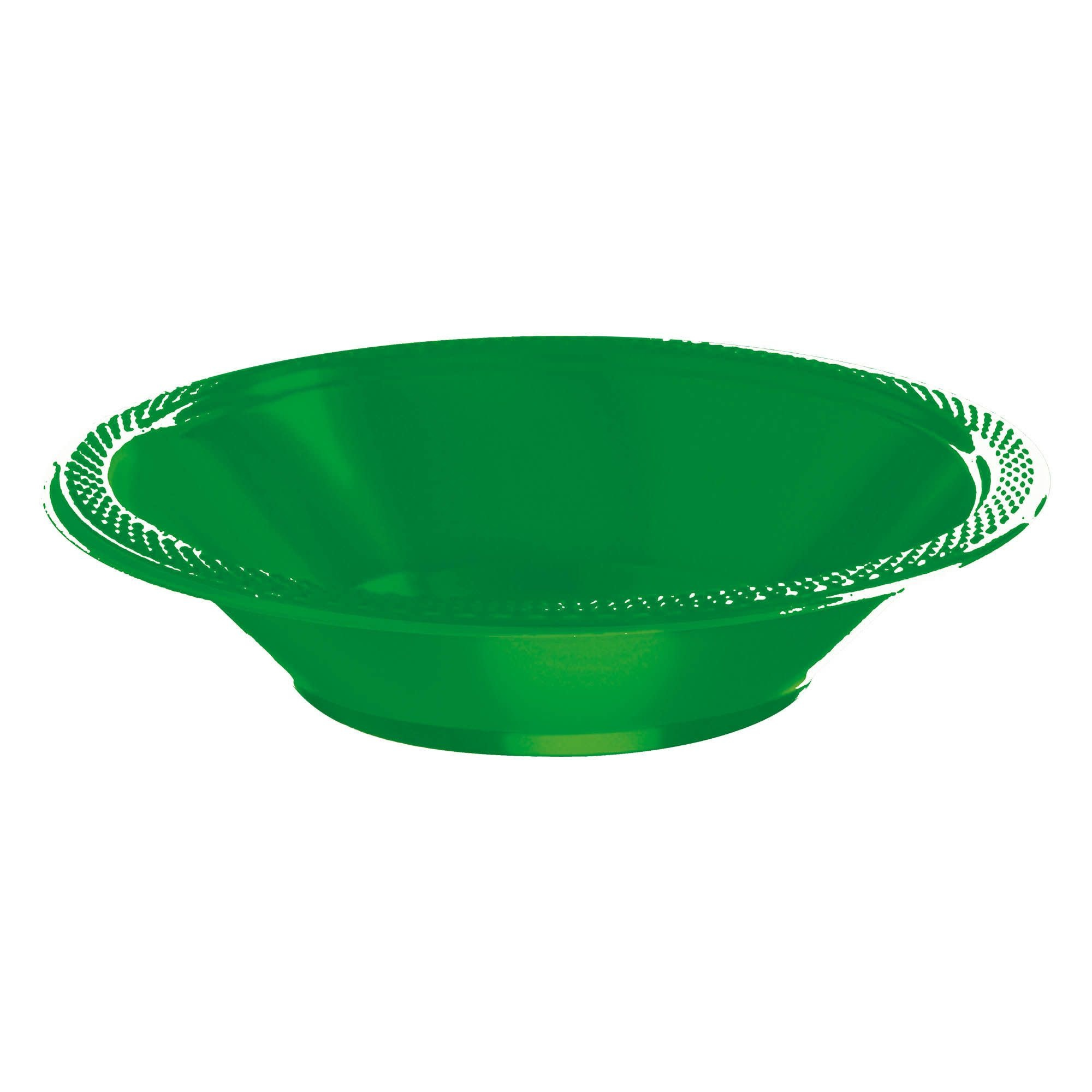 Festive Green Plastic Bowls, 12oz.