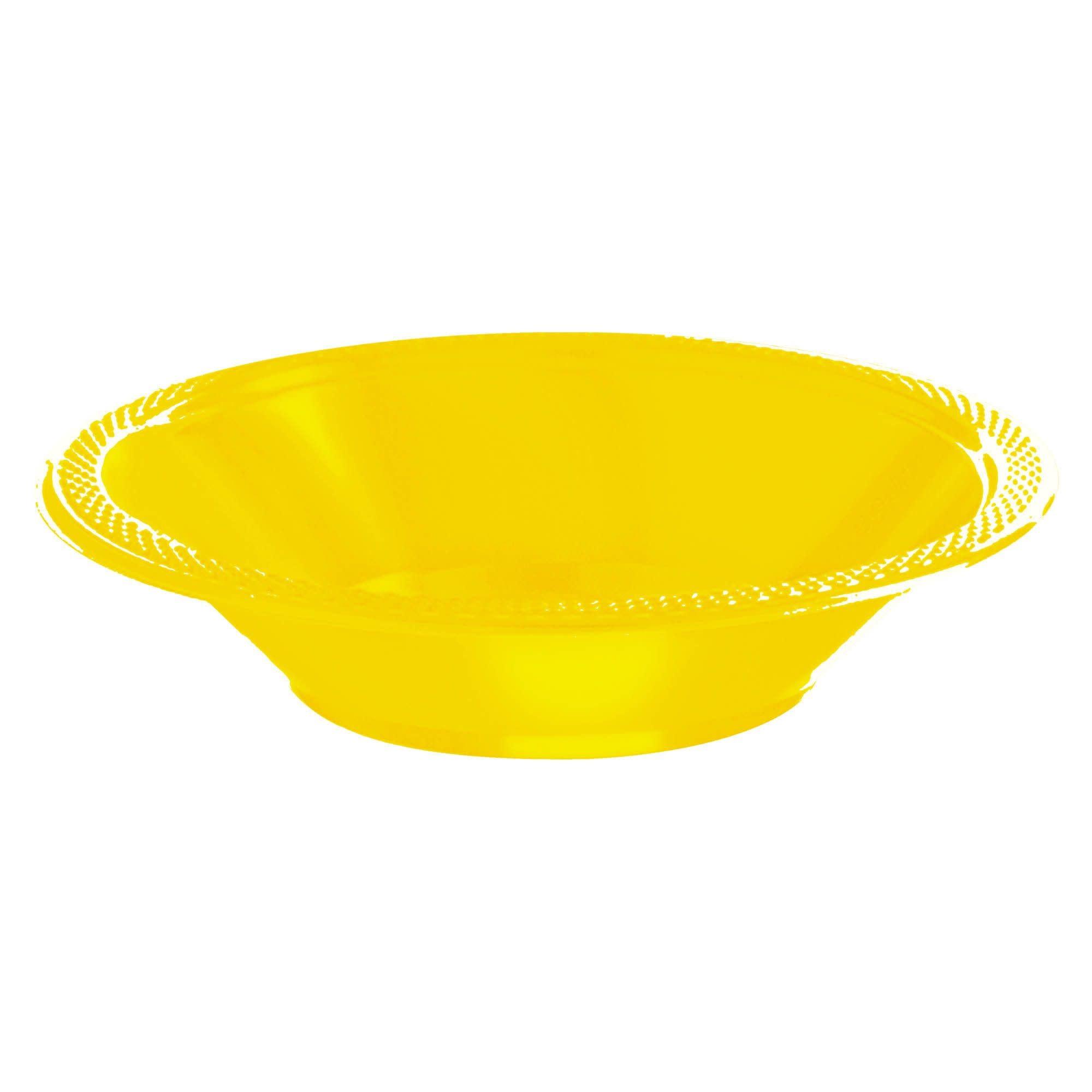 Yellow Sunshine Plastic Bowls, 12oz.