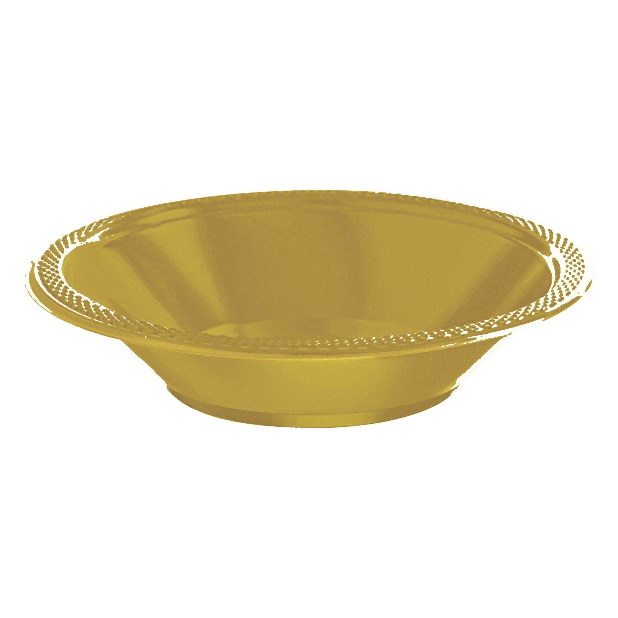 Gold Sparkle Plastic Bowls, 12oz.