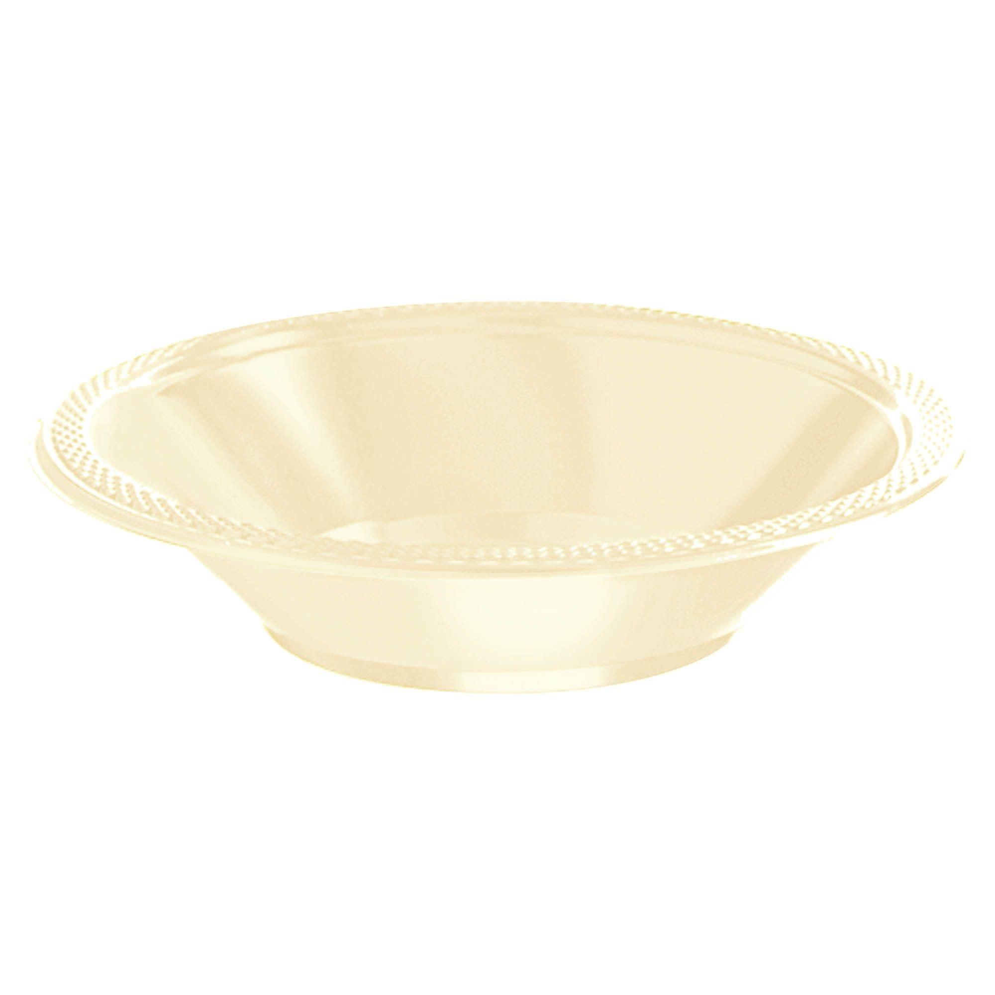 Vanilla Crème Plastic Bowls, 12oz.