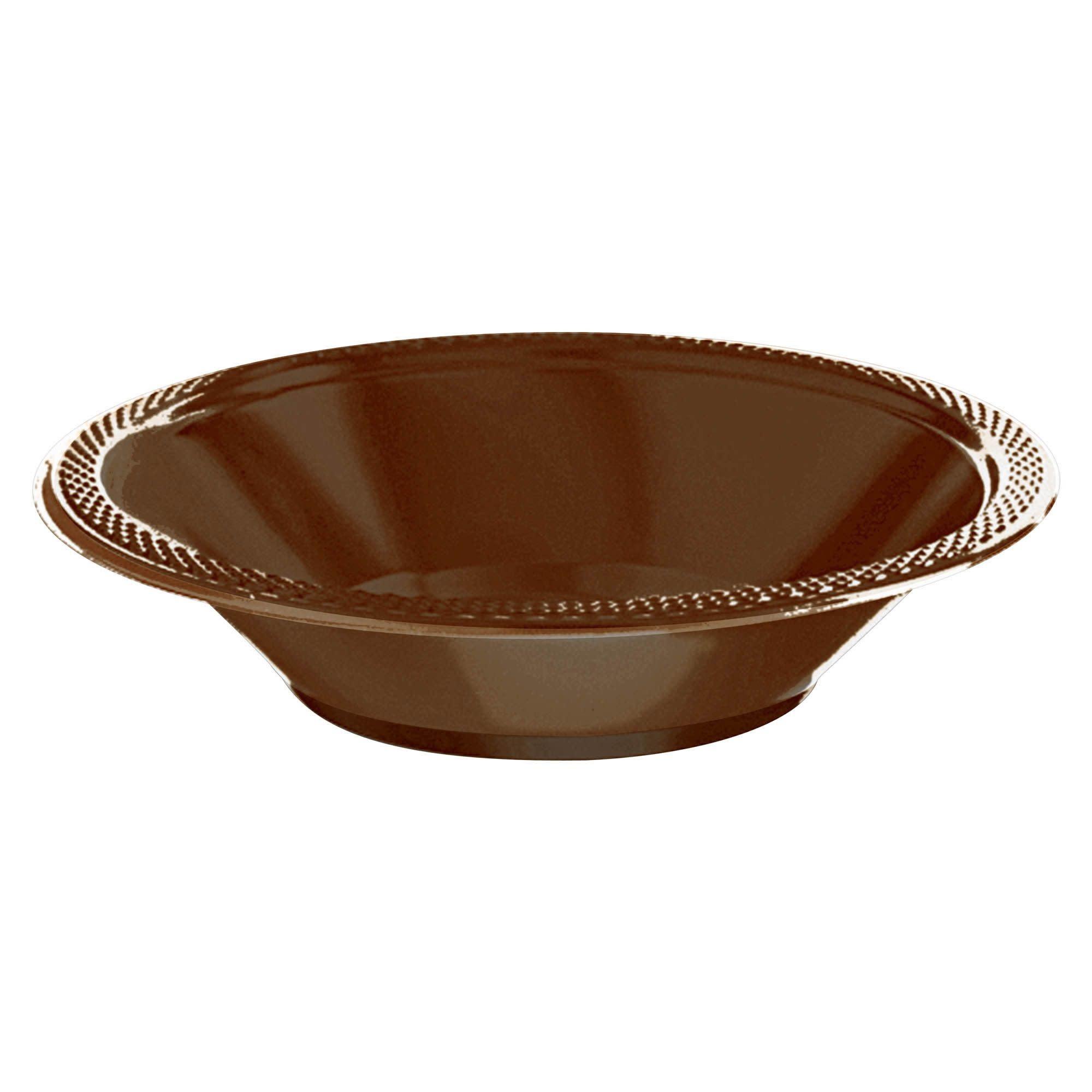Chocolate Brown Plastic Bowls, 12oz.