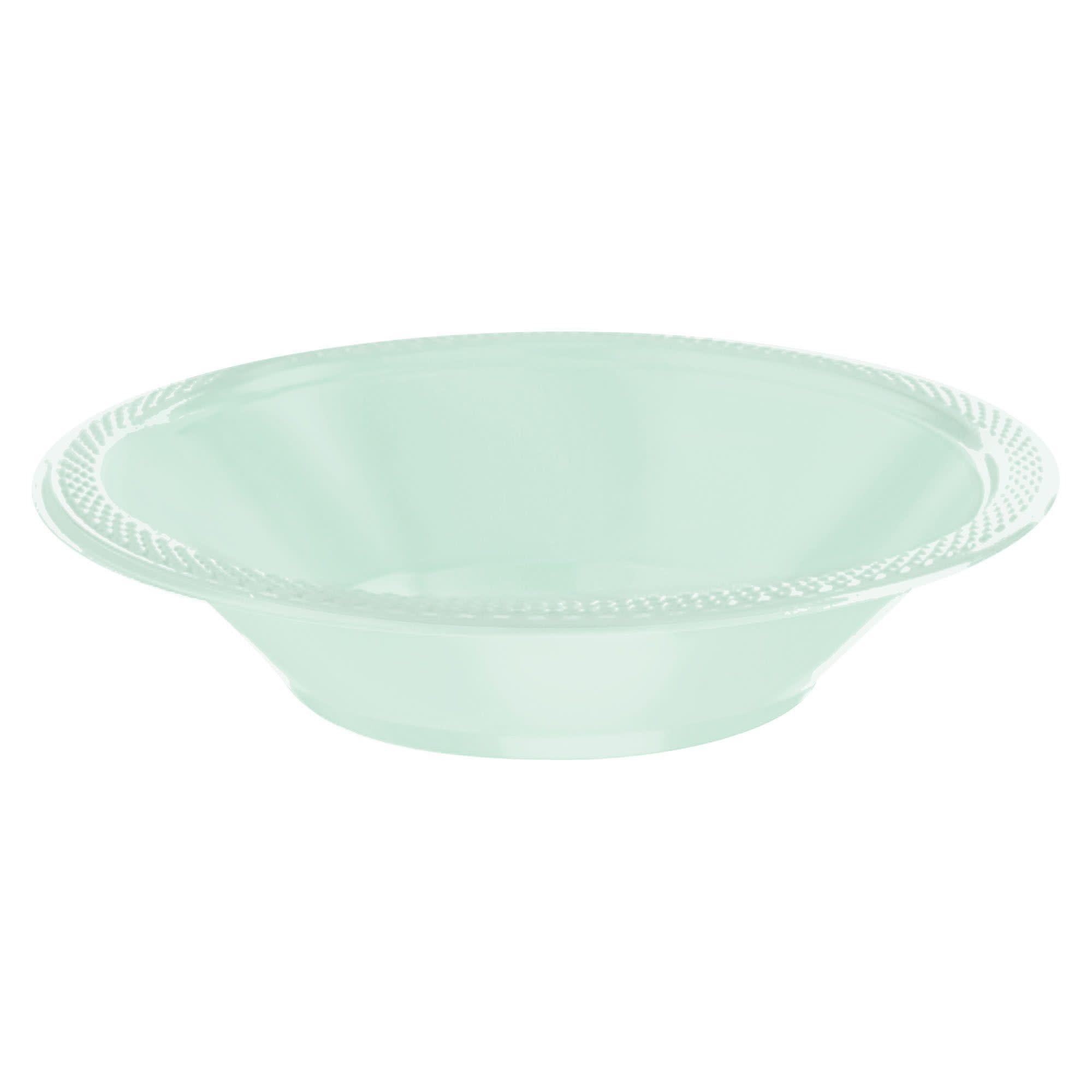 Cool Mint Plastic Bowls, 12 Oz.