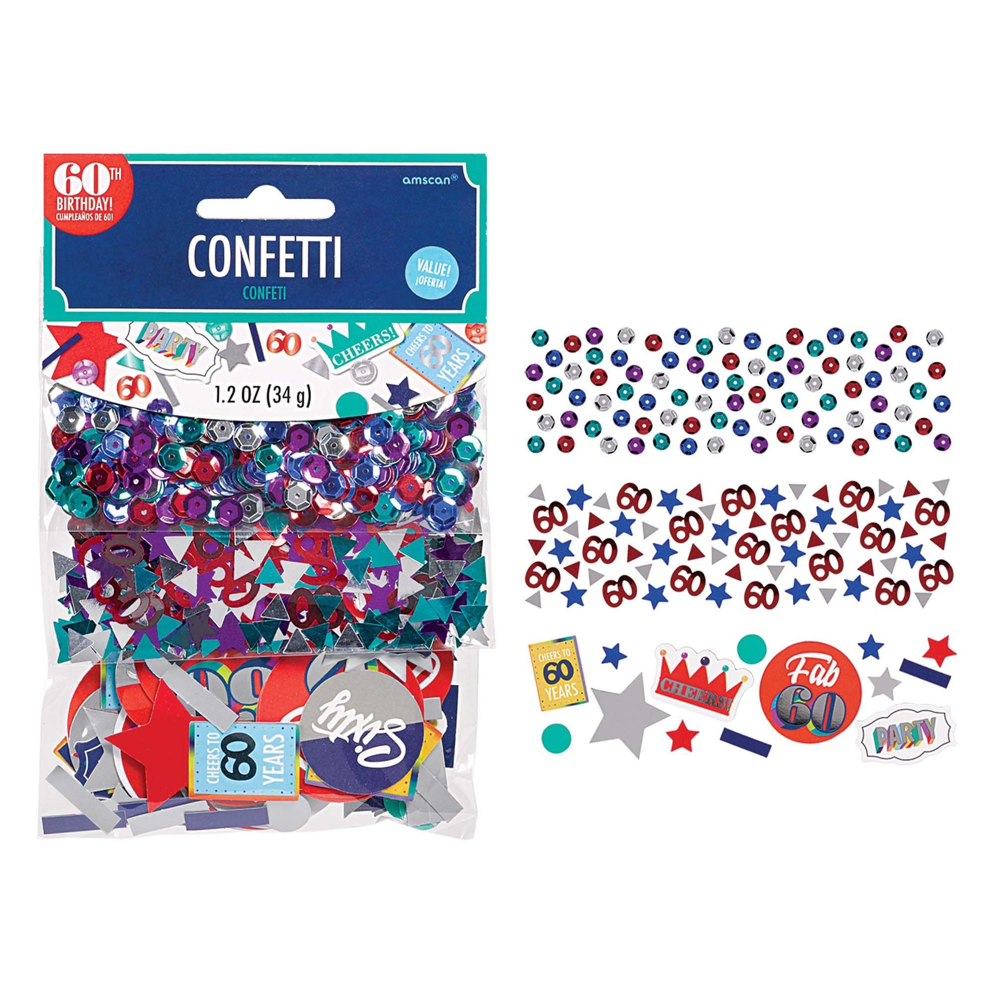 Value Pack Confetti - Here's To 60