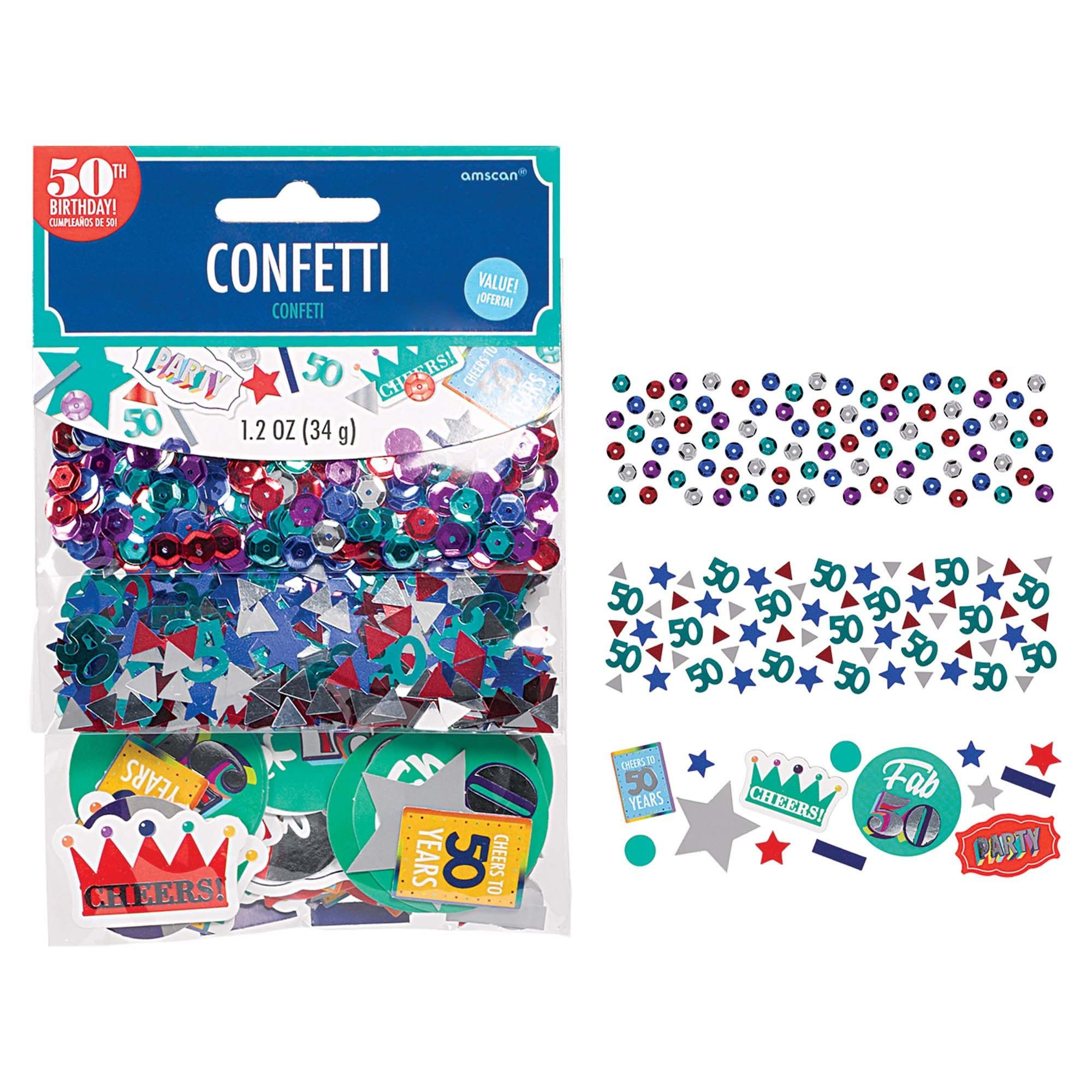 Value Pack Confetti - Here's To 50