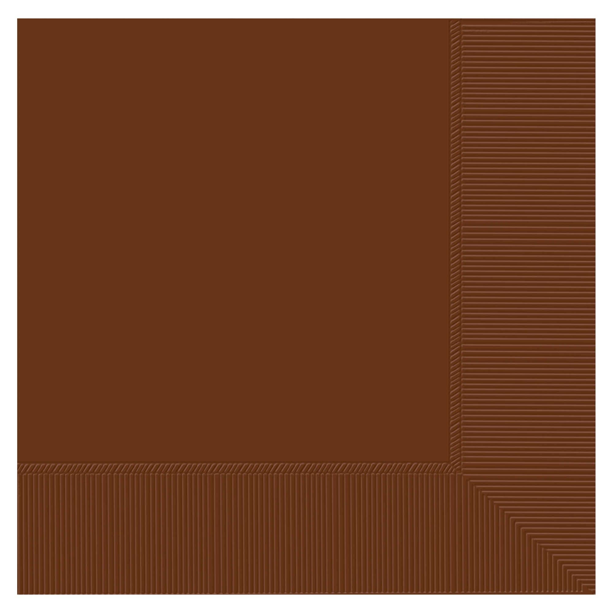 Chocolate Brown 3-Ply Dinner Napkins