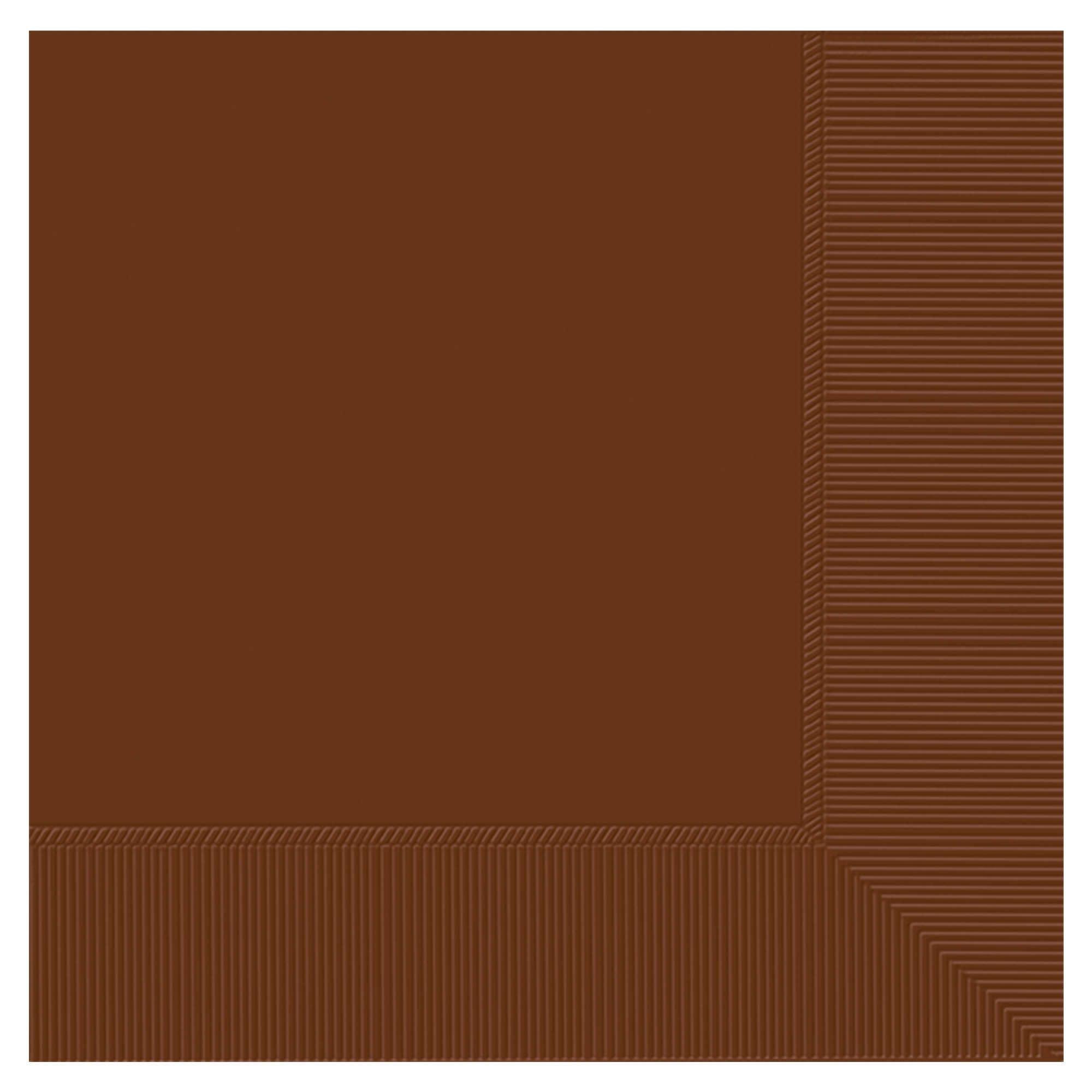 Chocolate Brown 3-Ply Beverage Napkins