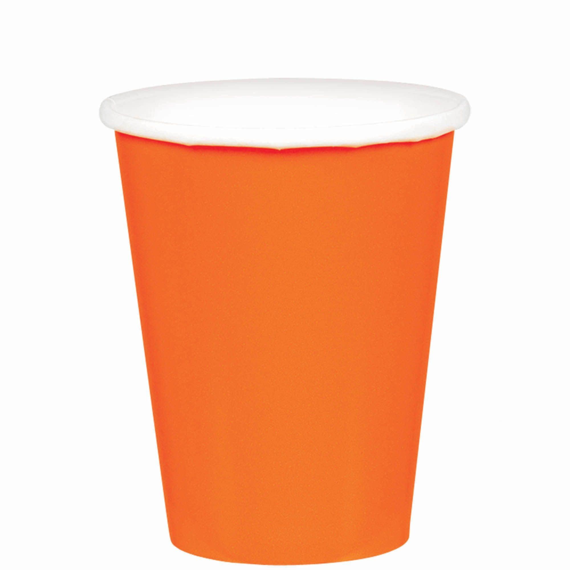 Orange Peel Paper Cups, 9oz.