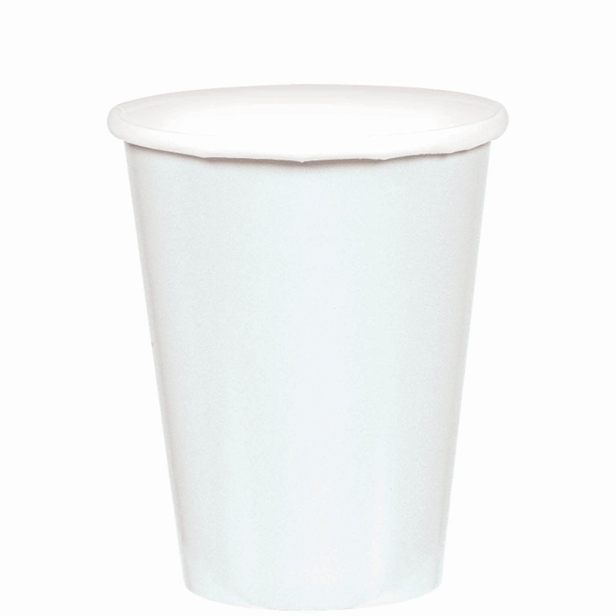 Frosty White Paper Cups, 9oz.