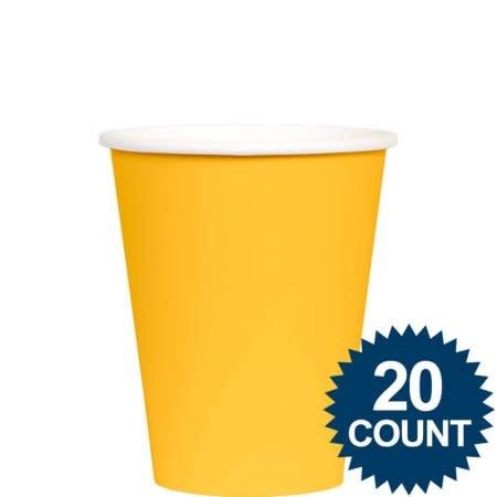 Yellow Sunshine Paper Cups, 9oz.