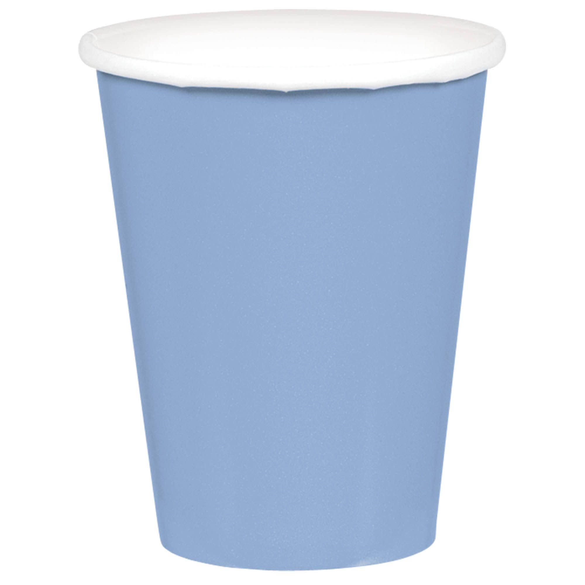 Pastel Blue Paper Cups, 9oz.