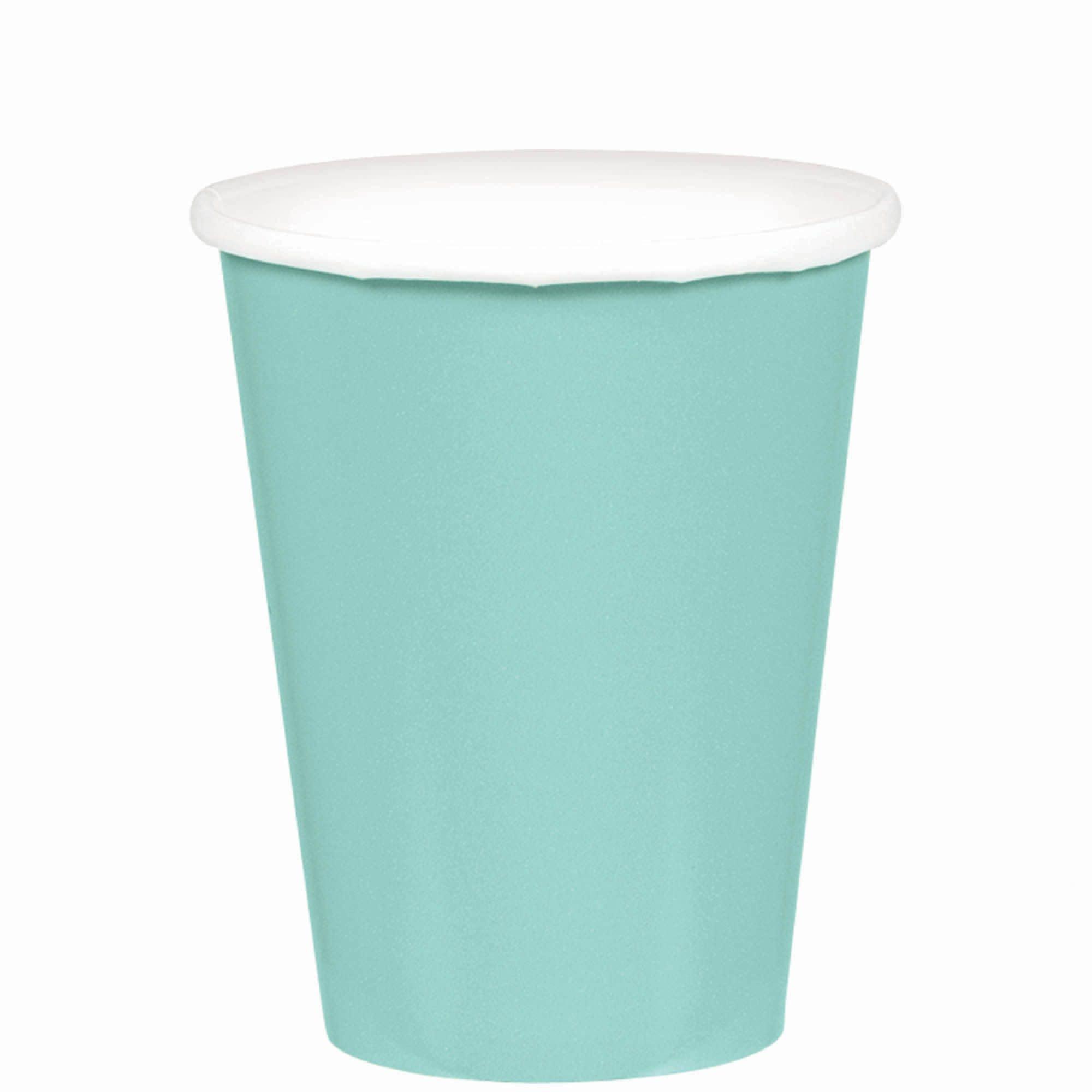 Robin's-Egg Blue Paper Cups, 9oz.