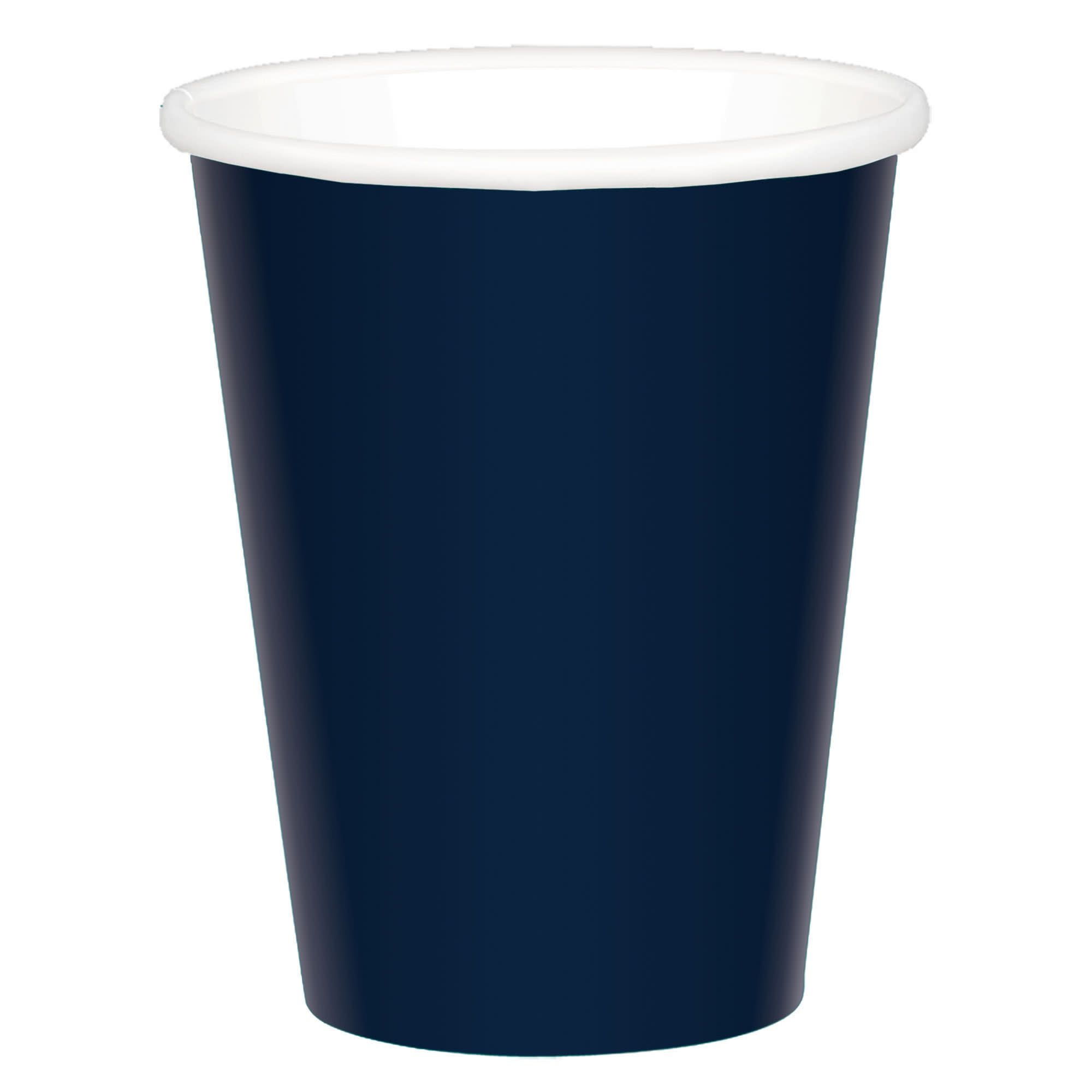 True Navy Paper Coffee Cups, 9 Oz.