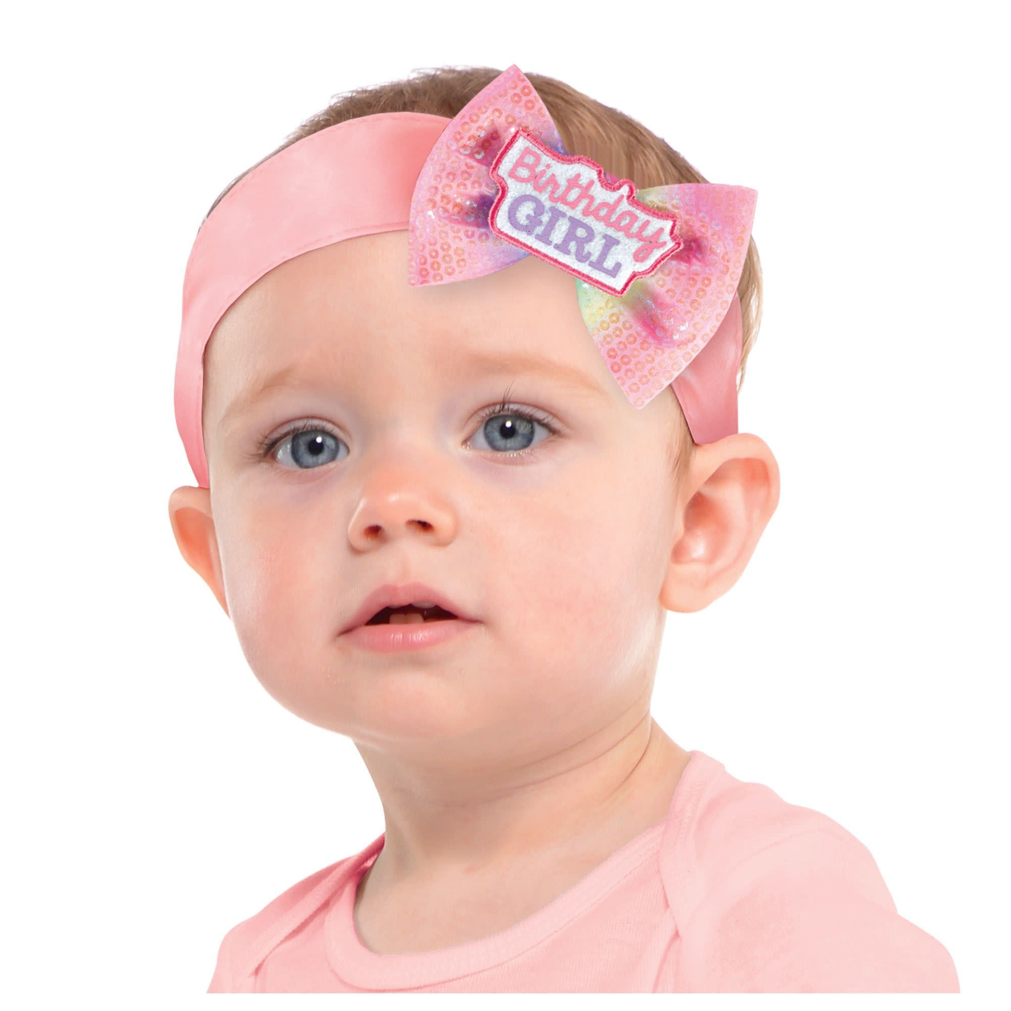 Young Birthday Girl Bow Headband