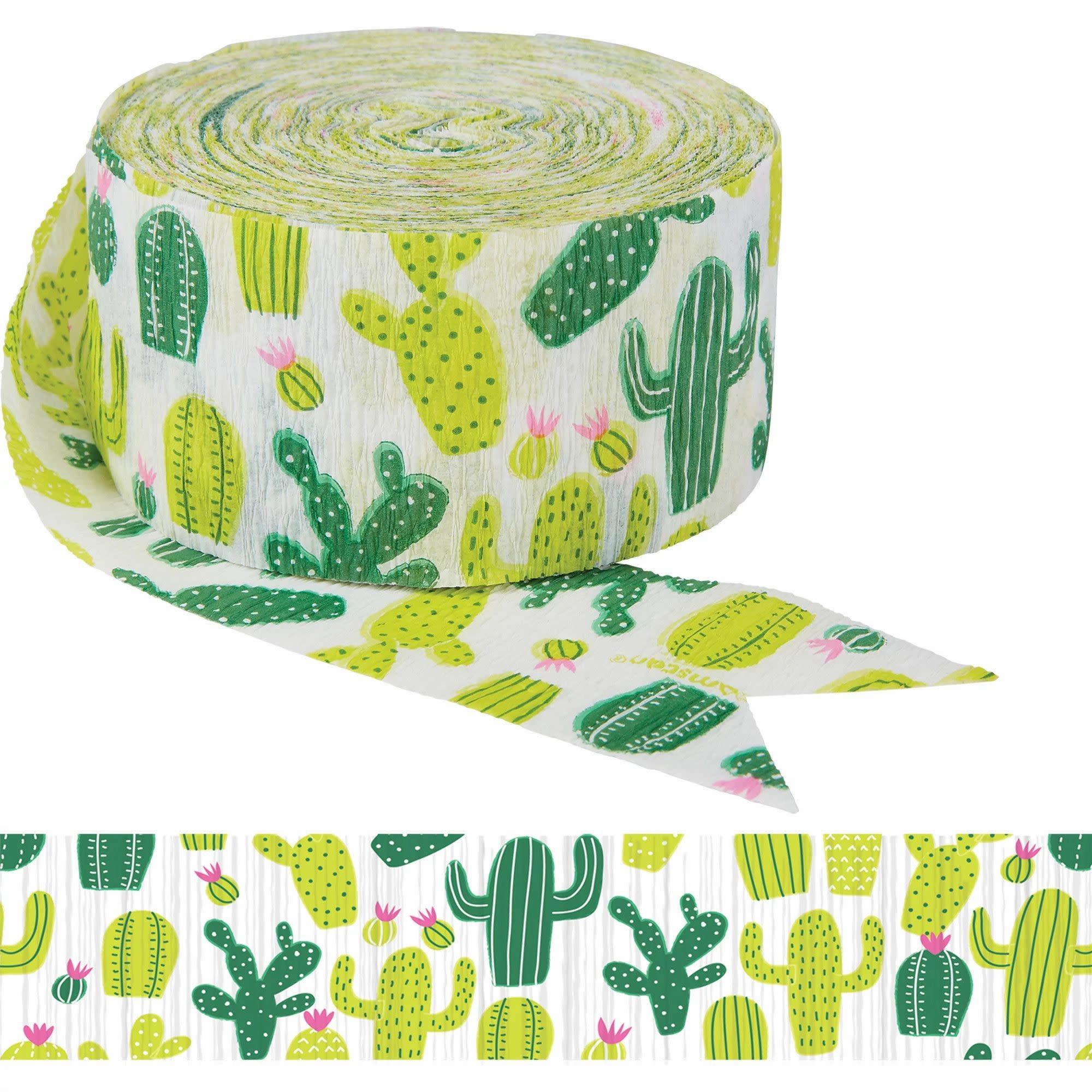 Printed Crepe Streamer, 81' - Cactus