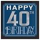 Happy Birthday Man Hot-Stamped Beverage Napkins - 40th