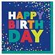 Bold Happy Birthday Luncheon Napkins