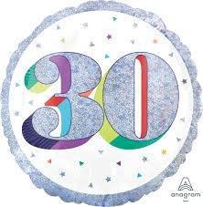 """18"""" Mylar """"30 """" Sparkling Birthday - #74"""