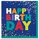 Bold Happy Birthday Beverage Napkins