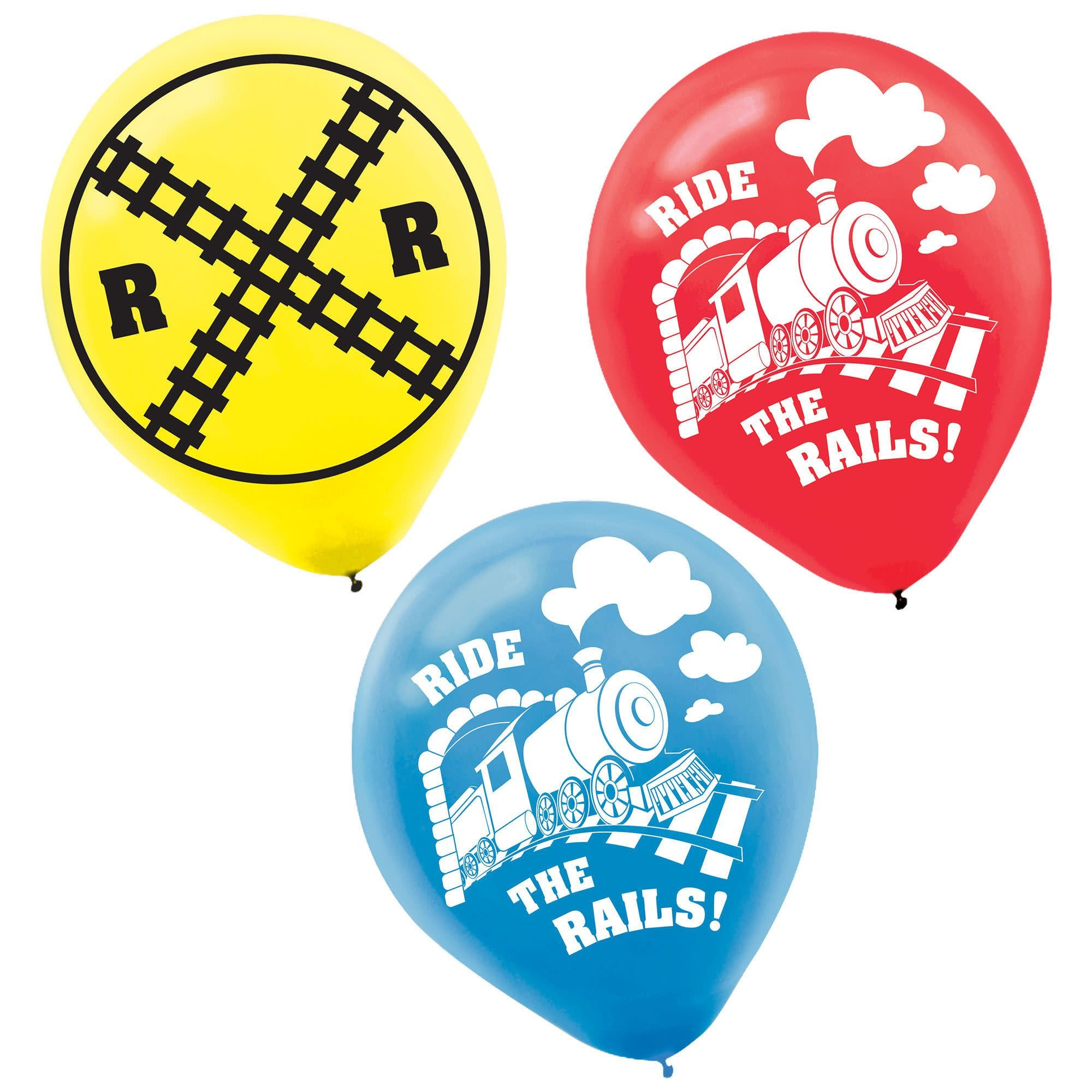 Thomas All Aboard Printed Latex Balloons- 6 Count (Latex Only)