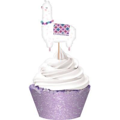 Glitter Llama Fun Cupcake Kit