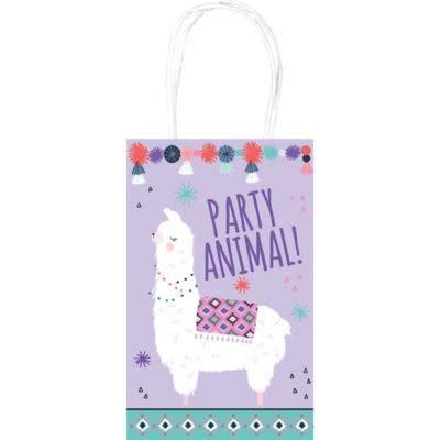 Llama Fun Kraft Paper Bags (8ct)