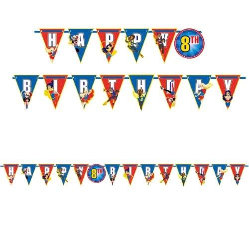 DC Super Hero Girls Ribbon Letter Banner Add-An-Age
