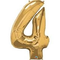 "34"" Light Gold 4 Mylar Number Balloon"