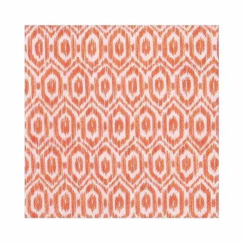 Amala Ikat Paper Luncheon Napkins in Orange - 20 Per Package