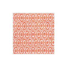 Amala Ikat Orange Cocktail Napkins-20 Per Package