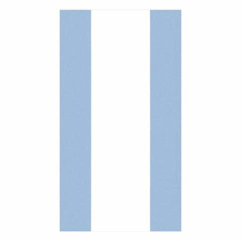 Bandol Stripe Paper Guest Towel Napkins in Light Blue - 15 Per Package