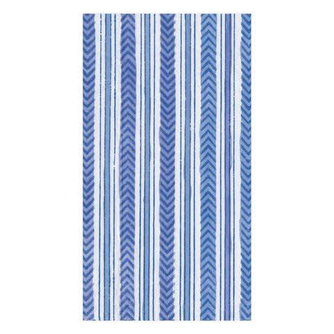 Carmen Stripe Paper Guest Towel Napkins in Blue - 15 Per Package