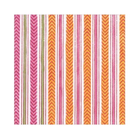 Carmen Stripe Paper Luncheon Napkins in Fuchsia - 20 Per Package