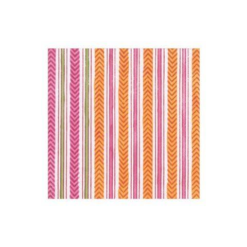 Carmen Stripe Paper Cocktail Napkins in Fuchsia - 20 Per Package