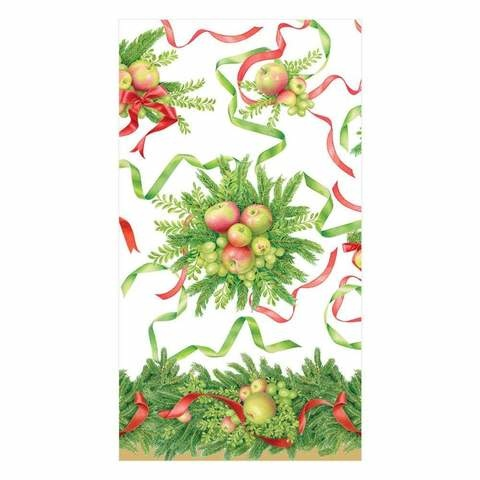 Apples and Greenery Paper Guest Towel Napkins - 15 Per Package