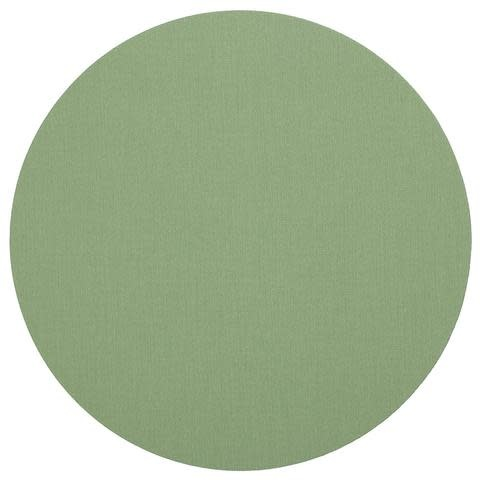 Classic Canvas Round Felt-Backed Placemat in Moss Green